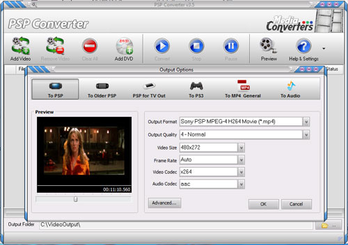 Click to view PSP Converter screenshots